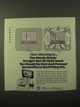 1971 Bell & Howell Special Effects Kit & 379 Camera Ad - $14.99
