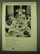 1971 Bell Long Distance Ad - Ordinary Day a Holiday - $14.99