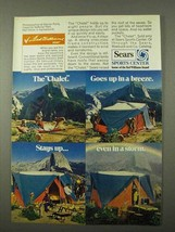1972 Sears Chalet Tent Ad - Goes Up in a Breeze - $14.99
