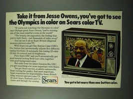 1972 Sears Model 41881 Television Ad - Jesse Owens - $14.99