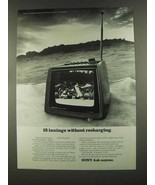 1972 Sony TV-750 Television Ad - 15 Innings - $14.99