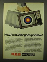 1971 RCA AccuColor TV Ad - Goes Portable - $14.99
