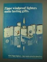 1971 Zippo Cigarette Lighters Ad - Lasting Gifts - $14.99