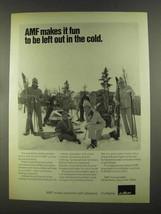1972 AMF Ad - Harley-Davidson Snowmobiles, Head Skis - $14.99