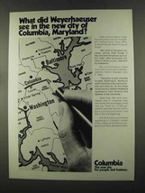 1972 Columbia Maryland Ad - What Did Weyerhaeuser See - $14.99