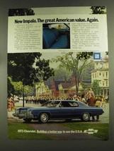 1973 Chevrolet Impala Custom Coupe Ad - Great Value - $14.99