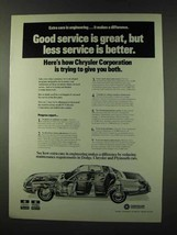 1973 Chrysler Ad - Good Service is Great - $14.99
