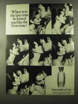 1973 Coty Emeraude Perfume Ad - Kissed Like First Time - $14.99