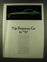 1973 Datsun 240-Z Car Ad - The Sensuous Car - $14.99