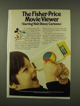 1973 Fisher-Price Movie Viewer Ad - Disney Cartoons - $14.99