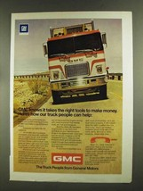 1972 GMC Astro 95 Truck Ad - Right Tools to Make Money - $14.99