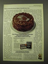1972 Hershey's Cocoa and Baking Chocolate Ad - Cake - $14.99