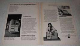 1972 Hewlett-Packard 9600 Computer Ad - $14.99
