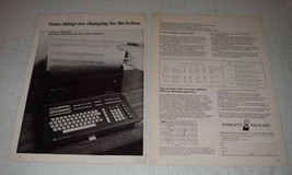 1972 Hewlett-Packard Model 30 Calculator Ad - Changing - $14.99