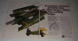 1973 John Deere 3800 Harvester Ad - J-Knives - $14.99