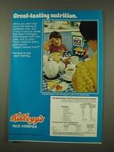 1973 Kellogg's Rice Krispies Ad - Great-Tasting - $14.99