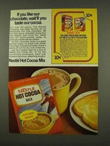 1973 Nestle Hot Cocoa Mix Ad - If You Like Chocolate - $14.99