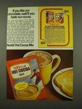 1973 Nestle Hot Cocoa Mix Ad - If You Like Chocolate - $14.99