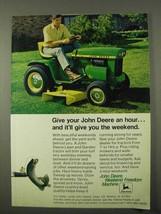 1972 John Deere 112 Lawn and Garden Tractor Ad - $14.99