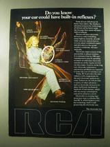 1973 RCA Electronic Auto Components Ad - Reflexes - $14.99