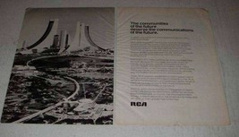 1973 RCA CATV Cable Technology Ad - The Future - $14.99