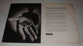 1973 RCA Color TV Ad - The Power of Concentration - $14.99