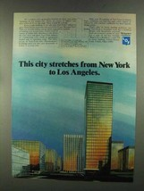 1972 Libbey-Owens-Ford Vari-Tran Reflective Glass Ad - This City Stretches - $14.99