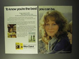 1972 Miss Clairol Hair Color Ad - To Know You're Best - $14.99