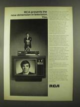 1972 RCA SelectaVision TV Ad - The New Dimension - $14.99