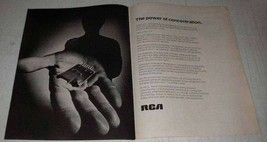 1972 RCA Color TV Ad - Power of Concentration - $14.99
