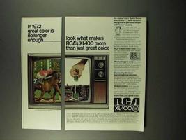 1972 RCA XL-100 Television Ad - Color No Longer Enough - $14.99