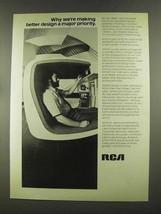 1972 RCA Electronics Ad - Design a Major Priority - $14.99