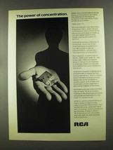 1972 RCA Color TV Ad - The Power of Concentration - $14.99