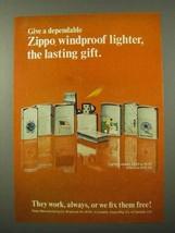 1972 Zippo Lighter Ad - The Lasting Gift - $14.99