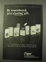 1972 Zippo Lighter Ad - Give a Lasting Gift - $14.99