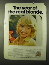 1973 Clairol Born Blonde Hair Color Ad - The Year Of - $14.99