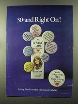 1973 Clairol Loving Care Hair Color Ad - Right On! - $14.99