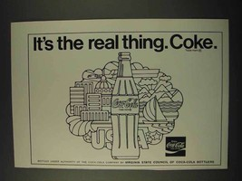 1973 Coca-Cola Soda Ad - It's The Real Thing. Coke - $14.99