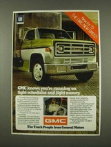 1973 GMC Truck Ad - Tight Schedules Tight Money - $14.99