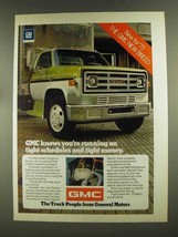 1973 GMC Trucks Ad - Tight Schedules and Money - $14.99