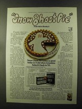 1973 Hershey's Cocoa Ad - Snow Ghost Pie - $14.99