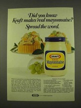 1973 Kraft Mayonnaise Ad - Mandarin Chicken Salad - $14.99