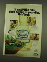 1973 Kraft Safflower Oil Ad - In Your Diet - $14.99