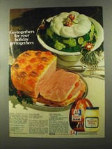 1973 Kraft Miracle Whip & Rath Ham Ad - Recipes - $14.99