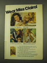 1973 Miss Clairol Hair Color Ad - Wear Miss Clairol - $14.99