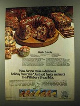 1973 Pillsbury's Bread Mix Ad - Holiday Fruitcake - $14.99