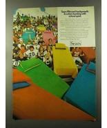 1973 Sears Ribcord Bedspreads Ad - School Spirit - $14.99