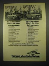 1973 Subaru 4-Door Sedan Ad - Stripped-Down - $14.99