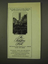 1973 The Park Lane Hotel Ad - Height of Luxury - $14.99