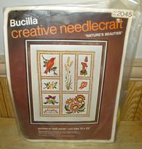 Bucilla Creative Needlecraft Natures Beauties Kit 19' x 23' Wall Panel - $24.17